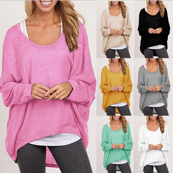 Oversized Loose Long Sleeve Baggy irregular Tops