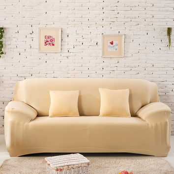 Soft Chair Loveseat Sofa Cover Slipcover Stretchable Pure Cushion Sofa Case Washable Prevent Sofa from Dust Pet Rair Damage