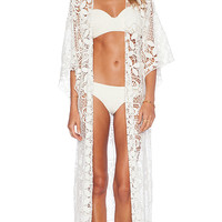Lisa Maree Breaking News Kimono in White