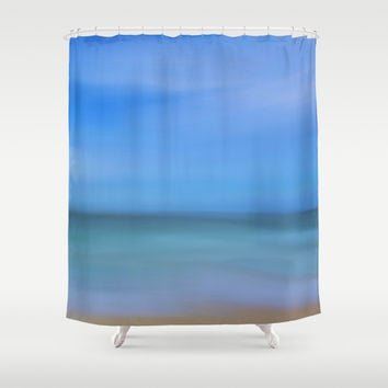 Abstract Seascape Shower Curtain by Lena Photo Art