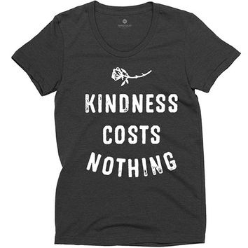 Kindness Costs Nothing - Womens - Heather Black