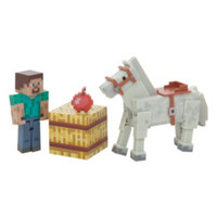 Minecraft Series #2 Steve And Horse Action Figure