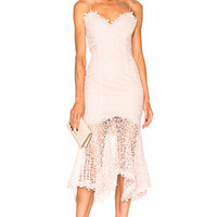 NICHOLAS Guipure Lace Cocktail Dress in Vintage Rose | FWRD