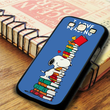 Snoopy I Love Reading Samsung Galaxy S3 Case