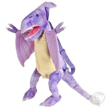 "20"" DINO BACKPACK PTERANODON, PURPLE"