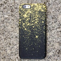 Gold Glitter Sparks iPhone 6s Case | iPhone 6 plus Case | iPhone 5 Case | Galaxy Case 3D 029