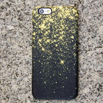 Gold Glitter Sparks iPhone XR Case | iPhone XS Max plus Case | iPhone 5 Case | Galaxy Case 3D 029