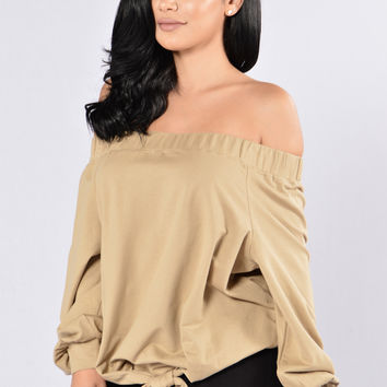 Mystery Machine Top - Olive