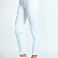 Natalie High Rise Bleach Wash Ankle Grazer Skinny Jeans