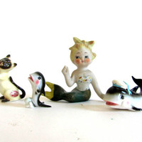 vintage Mermaid and friends / made in Japan / Dolphin Bone China