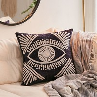 Magic Eye Velvet Throw Pillow | Urban Outfitters
