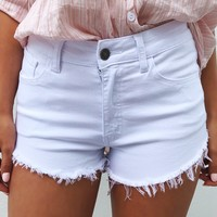 Sea Breeze Shorts: White
