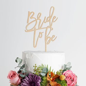 Bride To Be Engagement Cake Topper