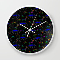 Smell The Flowers Unicorn Wall Clock by thatssounicorny