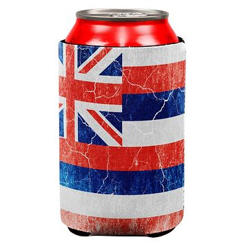 Hawaii Vintage Distressed State Flag All Over Can Cooler