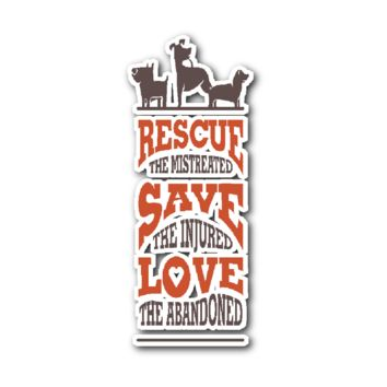 Rescue The Mistreated Sticker