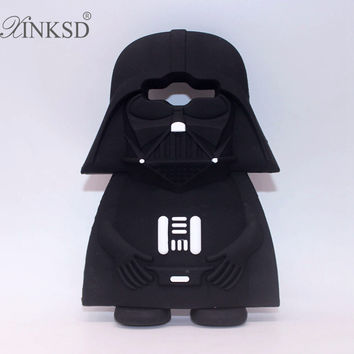 2016 3D Star Wars Black Darth Vader Phone Case For iPhone 7 PLUS 5 5S 6 6S Plus Soft Silicone For Samsung A3 A5 A7 J3 J5 J7 2016