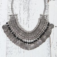 With Love From CA Coin & Bead Statement Necklace - Womens Jewelry - Silver - One