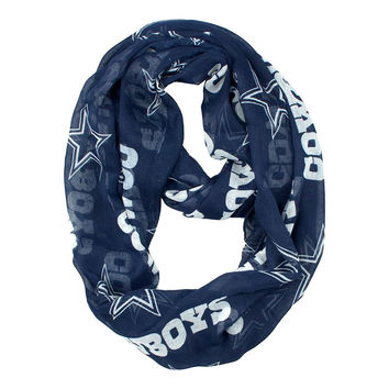 Dallas Cowboys NFL Sheer Infinity Scarf