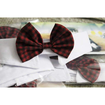 Formal Pattern Bowtie Collar