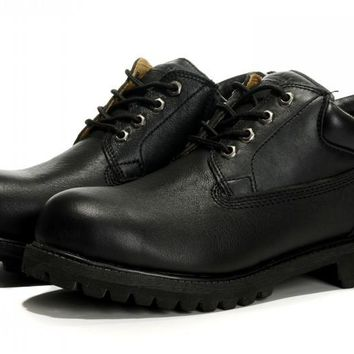 Timberland The first layer of grain cowhide black