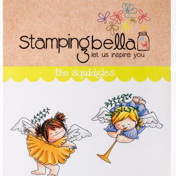 Stamping Bella Cling Stamps-Angel Squidgies Curtsy & Trumpet