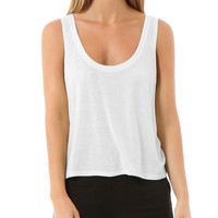 LE3NO PREMIUM Womens Lightweight Flowy Boxy Cropped Tank Top