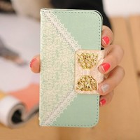 TPT New for Iphone 5c Fashion Fresh Cute Flip Wallet Leather Case Cover
