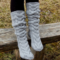 Hand knit slipper socks, Knitted Wool Socks, knitted slippers socks, Socks for UGG boots, socks for home, socks for sleep