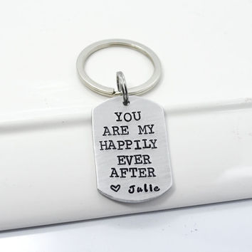 You Are My Happily Ever After Personalized Girlfriend Boyfriend Gift Custom Keychain