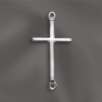 SS/ST1/CR3 -  Sterling Silver Cross  Connector, 33x17mm | Pkg 1
