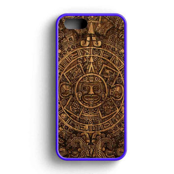 Aztec Mayan Calendar Wood Patern  iPhone 5 Case iPhone 5s Case iPhone 5c Case