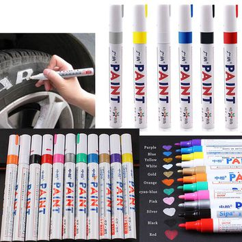 Waterproof Paint Care Car Wheel Tire Oily Mark Pen Auto Rubber Tyre Tread Metal Permanent Paint Marker Graffiti Marcador Caneta