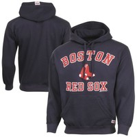 Stitches Boston Red Sox Fleece Pullover Hoodie - Navy Blue