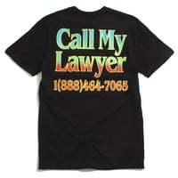 Call My Lawyer Rainbow T-Shirt Black