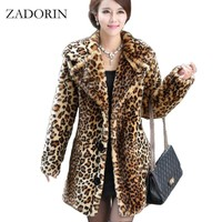 Chaleco Pelo New Winter Women Faux Fur Coat Thick Warm Leopard Coats and Jackets Female Fur Parka manteau femme hiver