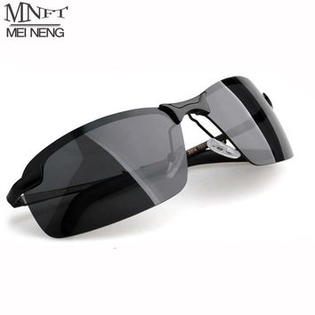 MNFT Men's Half Frame Fishing Sunglass Men's Outdoor Sports Polarized Fishing Tackle Glasses