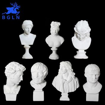 Bgln 1Piece Home Decoration Statuette Accessories Art Resin Portrait Sketch Painting Model Sculpture Model Drawing Image Model