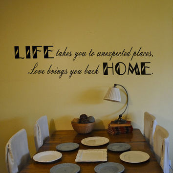 Love Brings You Home Life Family Living Room Wall Vinyl Decal Sticker U Pick Colors