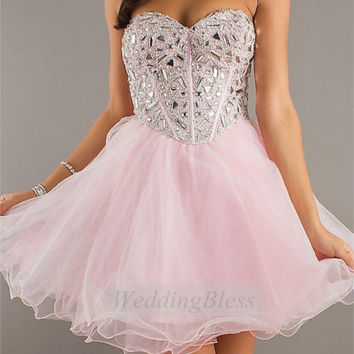 Corset Homecoming Dress Lace Up Back Prom Dress by WeddingBless