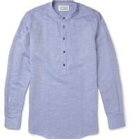 Maison Martin Margiela - Collarless Linen-Blend Shirt | MR PORTER