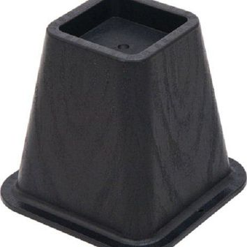 "Shepherd Hardware 9523 Molded Bed Riser, 6-1/8"", Black, 4-Pack"