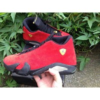 "Air Jordan 14 Retro ""Ferrari"" Basketball Sheos US8-13"