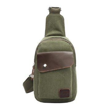 Vere Gloria Canvas Sling Backpack for Men Women, Multi-purpose, Front & Back Pack, Small Size, Sports Fan Must-have Fanny Bag