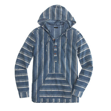 J.Crew Mens Baja Shirt In Shibori Stripe