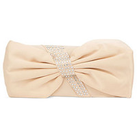 La Regale Handbag, Satin Evening Clutch with Crystal Bow - Clutches & Evening Bags - Handbags & Accessories - Macy's