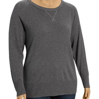 Old Navy Womens Plus Crew Neck Sweaters