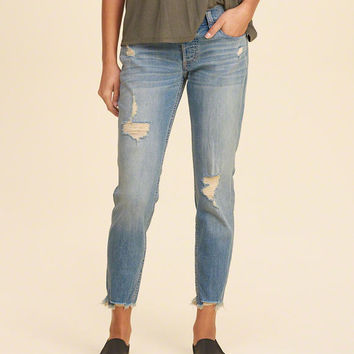Girls Hollister Ultra Low-Rise Slim Boyfriend Jeans | Girls Bottoms | HollisterCo.com