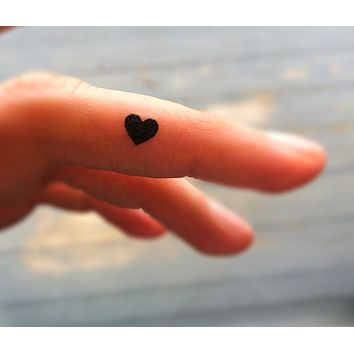 tiny black heart tattoos set of 20 fake tattoos temporary tattoos