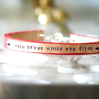 With Brave Wings She FliesHand by gardenologykc on Etsy